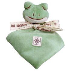 Cute froggy organic baby blanket.