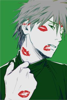 Hatake Kakashi covered in kisses, and I can understand why... <3