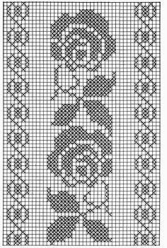 Kira scheme crochet: Scheme crochet no.Wide floral tape or oblong tableclothSchema Fascia rose Ciao a tutti ripetendo il motivo queFilet crochet by ornah kaye – ArtofitThis Pin was discovered by Kam - Salvabrani - Salvabrani Crochet Patterns Filet, Crochet Borders, Crochet Diagram, Crochet Designs, Free Crochet, Cross Stitch Borders, Cross Stitch Charts, Cross Stitching, Cross Stitch Embroidery