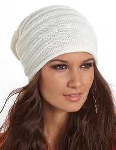 Ribbed Knit Oversized Beanie: Charlotte Russe