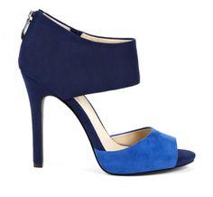 Blue & Navy Colorblock sandals - Selma