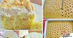 Hľadali ste banán - Page 5 of 64 - To je nápad! No Salt Recipes, Desert Recipes, Vanilla Cake, Ham, Good Food, Dairy, Food And Drink, Pudding, Ice Cream