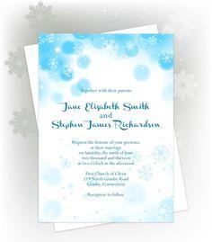 Free Printable Snowflakes Wedding Invitation  http://www.freetemplateideas.com/67-lovely-free-printable-wedding-invitations/