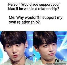 Just because I can, here's my opinion: if bias is in a relationship who tf cares? It's not like he even knows who I am anyways and he's a musician, not some virtual boyfriend