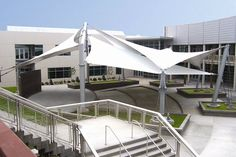 FabriTec Structures | tension fabric shade structures | Northwestern Career and Technical Academy