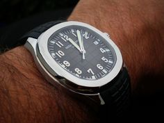 Altough far from the most beautiful Patek Philippe, there's something special about the Aquanaut Simple Watches, Watches For Men, Men's Watches, Patek Philippe Aquanaut, Make Real Money, Patek Phillippe, Dream Watches, Watch Brands, Omega Watch