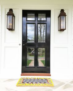 Door Entry, Front Steps, White Home Decor, High Contrast, White Houses, Custom Paint, Curb Appeal, Exterior, Windows