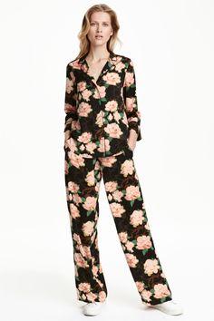 Pantalon large en satin | H&M