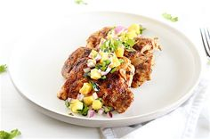 Chipotle Lime Chicken Thighs With Pineapple Salsa