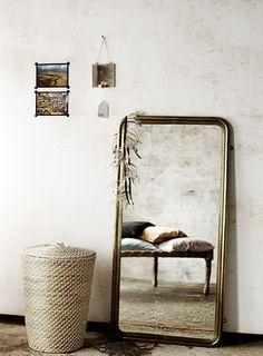 Toller Spiegel mit einem schönen Rahmen aus antik Messing  - MADAM STOLTZ CAR möbel