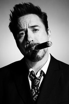 Cool as Robert Downey Junior! by & Cigar People Smoking, Man Smoking, Cigar Smoking, Smoking Celebrities, Cigar Art, Downey Junior, Robert Downey Jr, Fidel Castro, Tony Stark