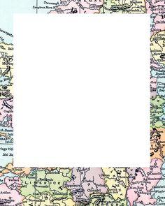 Free Polaroid Frames #scrapbooks #maps