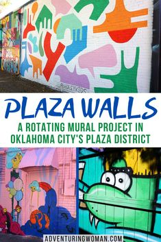 Launched in 2015, the Plaza Walls project, a curated rotating mural project 430 feet long, has become one of the top tourist attractions in Oklahoma City's Plaza District. At any one time, the Walls boast more than 30 murals created by over 25 participating artists. In my personal guide to the city's finest attractions, you'll find amazing #architecture, fantastic #food, a thriving #arts scene
