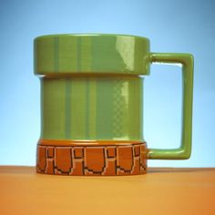 The Warp Pipe Mug transforms you to another world as you sip your favorite hot drink. Sit back, relax and let this Iconic warp pipe take you to the next level.