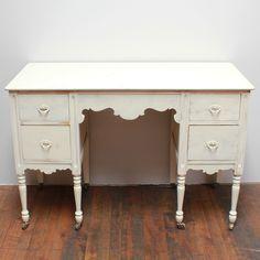 Lucile white desk -- www.somethingborrowedpdx.com