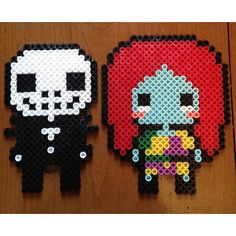 Nightmare Before Christmas perler beads by ghibligirl95