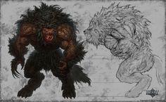 werewolf alpha male by KhezuG.deviantart.com on @DeviantArt