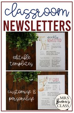 Editable Class Newsletter templates for parent communication, classroom news, learning & notes with a Woodland Animal theme & shiplap background. Parent Notes, Notes To Parents, Class Newsletter Template, Woodland Animals Theme, Back To School Pictures, Magic Treehouse, Math Multiplication, Parent Communication, Spring Plants