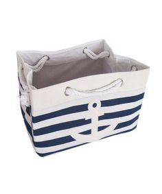 Take a look at this Nautical Rectangular Storage Tote by Kennedy Collection on zulily today!