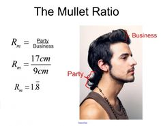 """Haha this is awesome!  """"Just how mullet-y is it??""""  Mullet lesson plan, business:party ratio!"""