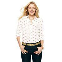 silk derby blouse