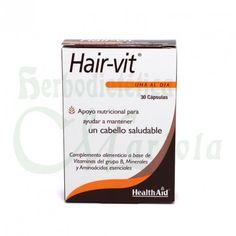 Hair-vit® Health Aid un complemento alimenticio a base de vitaminas del grupo B, minerales y aminoácidos esenciales para ayudar a mantener un cabello saludable