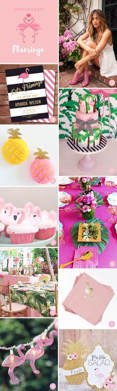 """Que tal uma festa de 15 anos com o tema flamingo? Fizemos uma seleção com 10 lindas referências inspiradas no """"it bird"""" do momento!"""