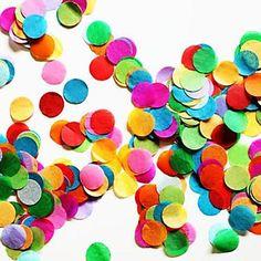 """2500+PCS+2/5""""(1cm)+Round+Multicolor+Tissue+Paper+Confetti+for+Party+Birthday+Decoration+–+USD+$+2.19"""