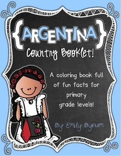 Awesome country study booklets! Over 20 countries!   Argentina Booklet (A Country Study!) -- Use during social studies units about countries around the world! TeachersPayTeachers