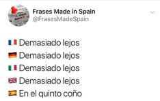 Funny Spanish Memes, Funny Memes, Comedy Central, Lol, Spain Vs, Sayings, Words, Quotes, How To Make