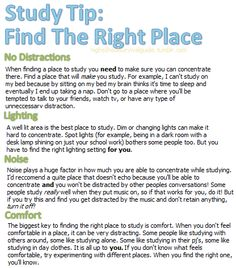 Study Tip: Find The Right Place #Studying #Study