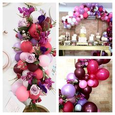 Pretty balloon table centrepieces mixed with florals beautiful by - Decoration For Home Balloon Table Centerpieces, Balloon Decorations, Birthday Party Decorations, Wedding Decorations, Balloon Arrangements, Balloon Columns, Balloon Arch, Balloon Garland, Wedding Balloons