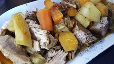 Rouelle de porc confite parfumée et ses légumes – CUISINE DE GUT Pot Roast, Ethnic Recipes, Food, Other, Pork Roll, Meat, Cooker Recipes, Dish, Carne Asada