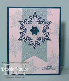 Unfrogettable Stamping   Stampin' Up! Festive Flurry Fabulous Friday sneak peek Christmas card 2013-07-26 www.unfrogettablestamping.typepad.com