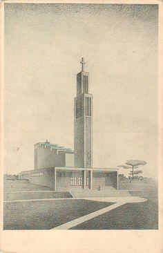 Gočár, Josef - Jubilejní farní chrám svatého Václava ve Vršovicích, Praha (The jubilee parish Church of St. Wenceslas in Vršovice, Prague), 1929-30