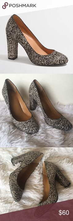 J. Crew Factory Speckled Calf Hair Pumps So cute and perfect dressed up or down! Excellent pre owned condition. Round toe. Size 9. No trades!! 03261780gwf J.Crew Factory Shoes Heels