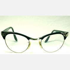 the art of glasses. I love these Frames Cat Eye Metal Trim Black now featured on Fab.