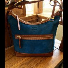 Dooney & Bourke purse Dooney & Bourke Shoulder purse Blue/Suede W/ Brown Leather EUC Dooney & Bourke Bags Shoulder Bags
