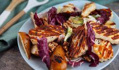 Grilled Pear and Haloumi Salad ~ Everyday Gourmet [Justine Schofield] Haloumi Salad, Halloumi, Quick Recipes, Light Recipes, Vegetarian Recipes, Cooking Recipes, Diabetic Recipes, Paleo Life, Best Chef