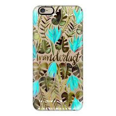 iPhone 6 Plus/6/5/5s/5c Case - Tropical Wanderlust – Turquoise &... ($40) ❤ liked on Polyvore