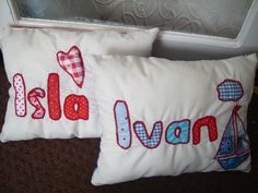 twin babies personalised cushions
