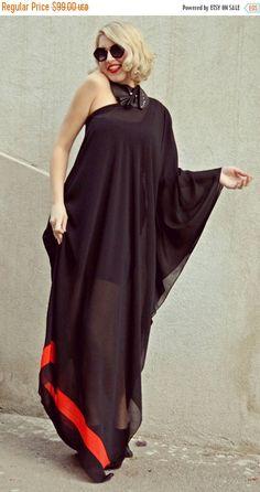 Now selling: PURPLE SALE 25% OFF Extravagant Black Kaftan / Asymmetrical Maxi Dress / Black Chiffon Kaftan / One... https://www.etsy.com/listing/264077892/purple-sale-25-off-extravagant-black?utm_campaign=crowdfire&utm_content=crowdfire&utm_medium=social&utm_source=pinterest