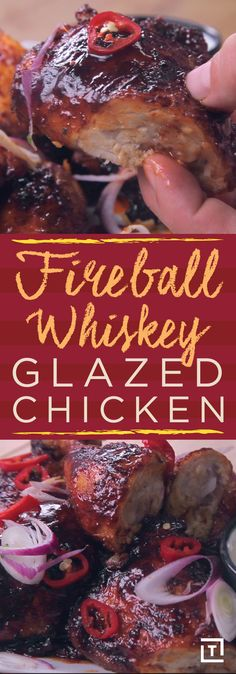 Forget firecracker chicken -- Fireball whiskey glazed chicken is where it's at. This recipe from Twisted has everything we crave in a meal: it's sweet, spicy, appropriately sticky, a little bit smoky, and makes perfectly moist chicken even more delectable. We suggest you wait until after you've successfully prepared and cooked everything before you contemplate taking whiskey shots to toast the glorious feast that awaits you, but hey, live your life.