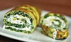 Recept : Špenátová roláda s tvarohovo-jogurtovou náplní | ReceptyOnLine.cz - kuchařka, recepty a inspirace Cucumber, Healthy Lifestyle, Food And Drink, Healthy Recipes, Homemade, Snacks, Vegan, Meals, Vegetables