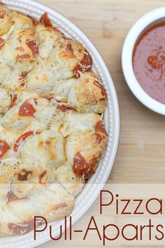 Need a quick appetizer? Try these super cheesy Pizza Pull-Aparts! Add a side of pizza sauce for dipping and you've got a major hit on your hands!