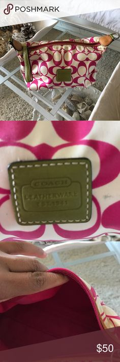 Coach cosmetics bag Authentic but use, and have sign of use outside bag Coach Bags Cosmetic Bags & Cases