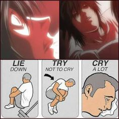 Everytime I love a character they end up dying whyyyyyyyyyy T_T I just start liking Mello then a few minutes later he dies * flips table * I'm SO dONE!
