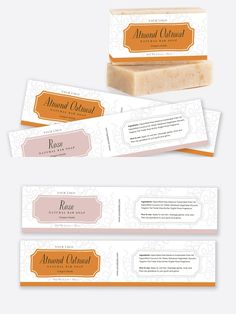 Oatmeal Soap, Oatmeal Bars, Stationery Templates, Label Templates, Handmade Soap Packaging, Christmas Gift Certificate Template, Printable Labels, Printables, Soap Packing
