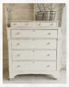 Winter white dresser by The Modern Cottage Company.