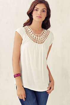 Anthropologie - Lace Tracings Tee